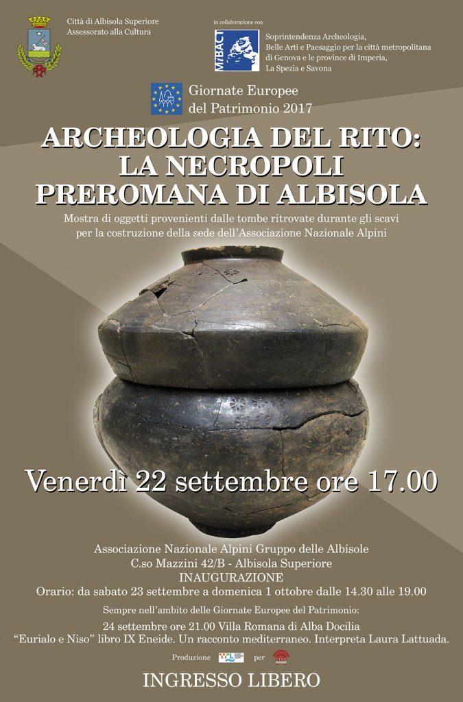 Archeologia del rito: la necropoli preromana di Albisola inagura il 22 settembre la mostra
