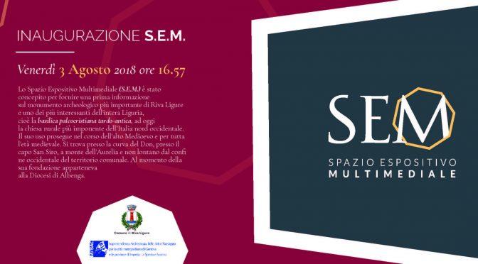 Inaugurazione S.E.M. Riva Ligure