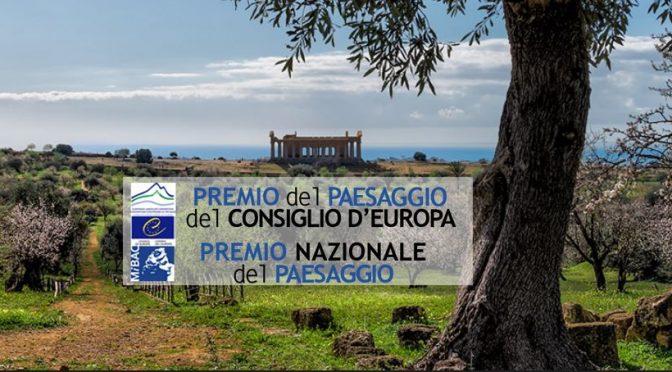 VI Edizione del Premio del Paesaggio del Consiglio d'Europa  – II Edizione del Premio Nazionale del Paesaggio